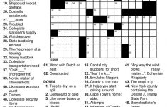 Easy Crossword Puzzles For Seniors Practice » Printable Coloring   Printable Puzzles For Seniors