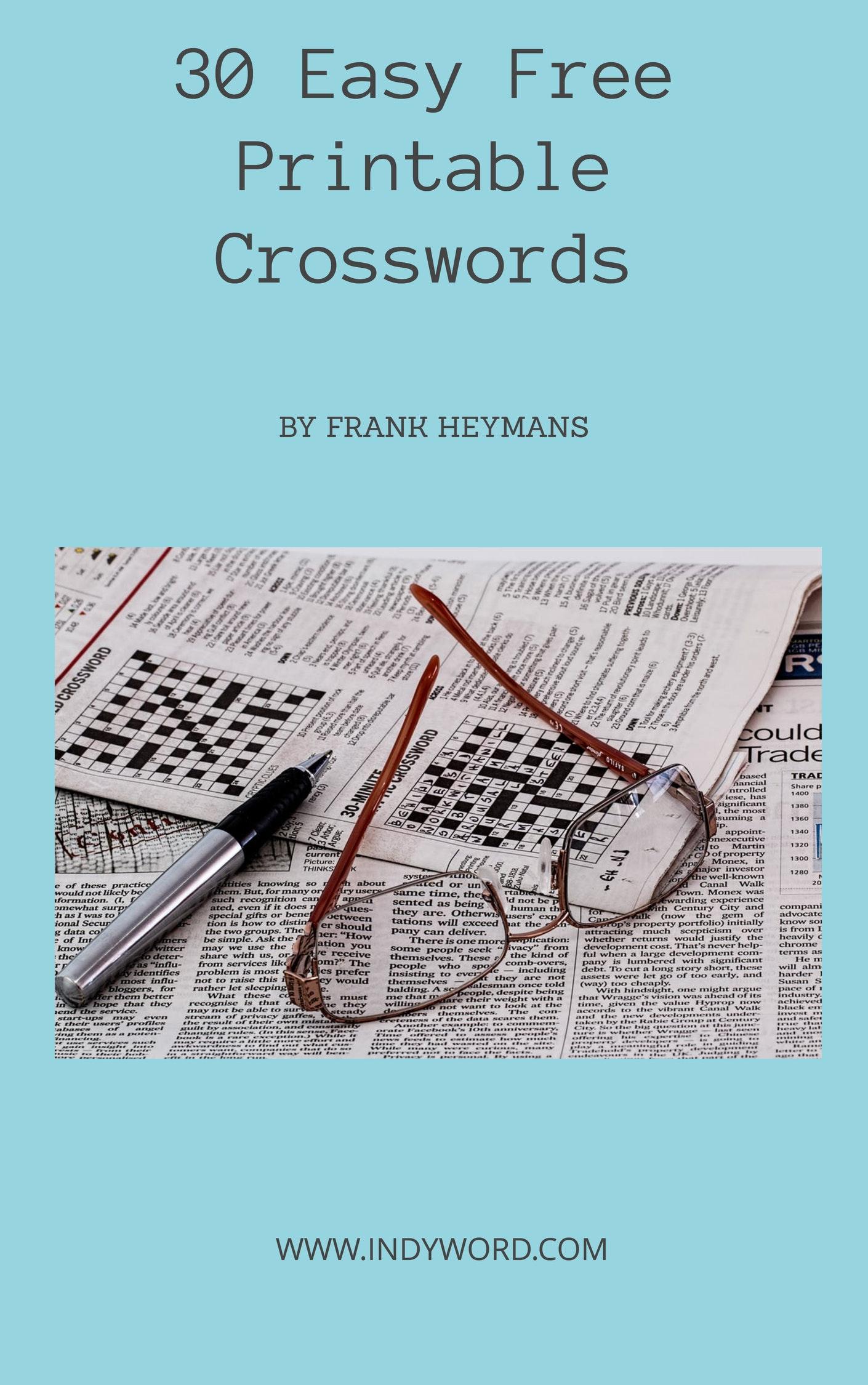 Easy Crossword Puzzles Printable - Printable Crossword Book