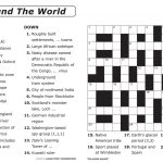 Easy Large Print Crossword Puzzles Printable Easy Crosswords To   Printable Crossword Puzzles Nz