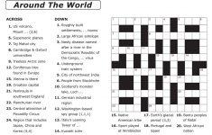 Easy Large Print Crossword Puzzles Printable Easy Crosswords To   Printable Crossword Puzzles Nz