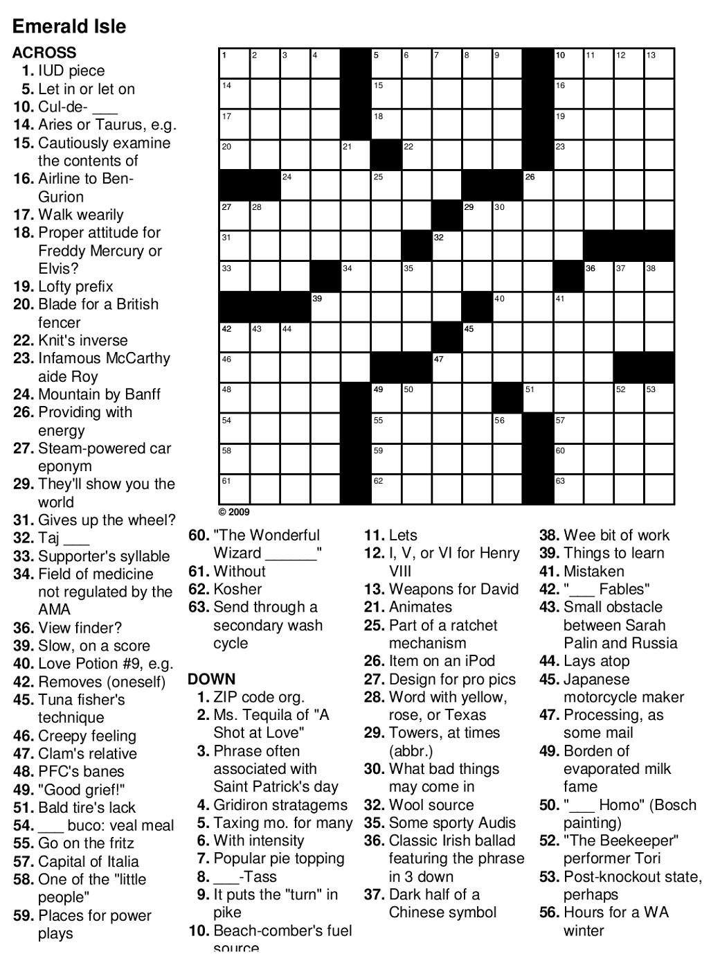 Easy Printable Crossword Harry Potter Puzzle Sc St Intended For - Printable Easy Crossword Puzzles For Adults