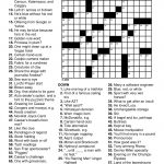 Easy Printable Crossword Puzzels   Infocap Ltd.   Esl Crossword Puzzles Printable
