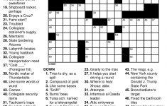 Easy Printable Crossword Puzzles | Educating The Doolittle | Free   Free Printable Crossword Puzzles High School