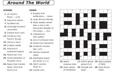 Easy Printable Crossword Puzzles | Elder Care & Dementia Care   Free   Free Easy Printable Crossword Puzzles For Adults