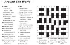 Easy Printable Crossword Puzzles | Elder Care & Dementia Care – Printable Crossword Puzzles Pdf