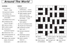 Easy Printable Crossword Puzzles | Elder Care & Dementia Care   Printable Puzzles For Elderly