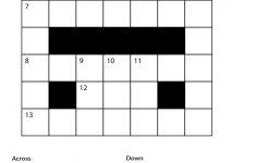 Easy Printable Crossword Puzzles | Freepsychiclovereadings   Free Printable Easy Crossword Puzzles For Beginners