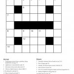 Easy Printable Crossword Puzzles | Freepsychiclovereadings   Printable Crossword Puzzles Grade 6