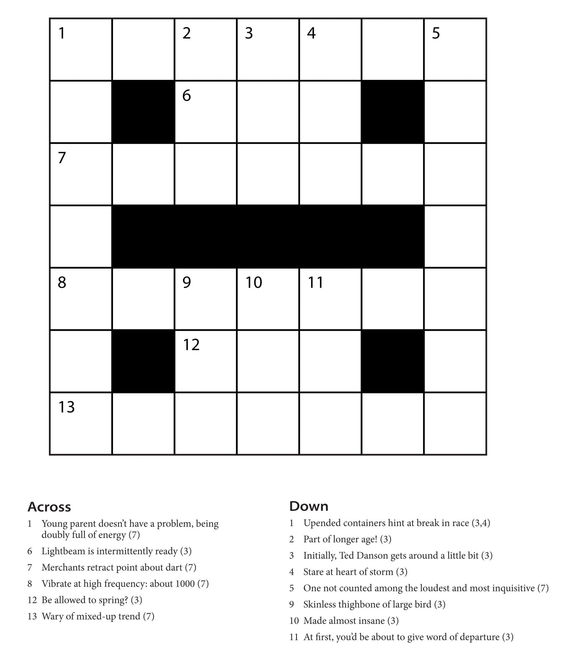 Easy Printable Crossword Puzzles | Freepsychiclovereadings - Printable Cryptic Crossword Puzzles Free