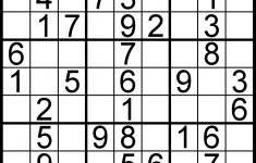 Easy Sudoku Puzzles Printable (96+ Images In Collection) Page 1   Printable Sudoku Puzzles 99