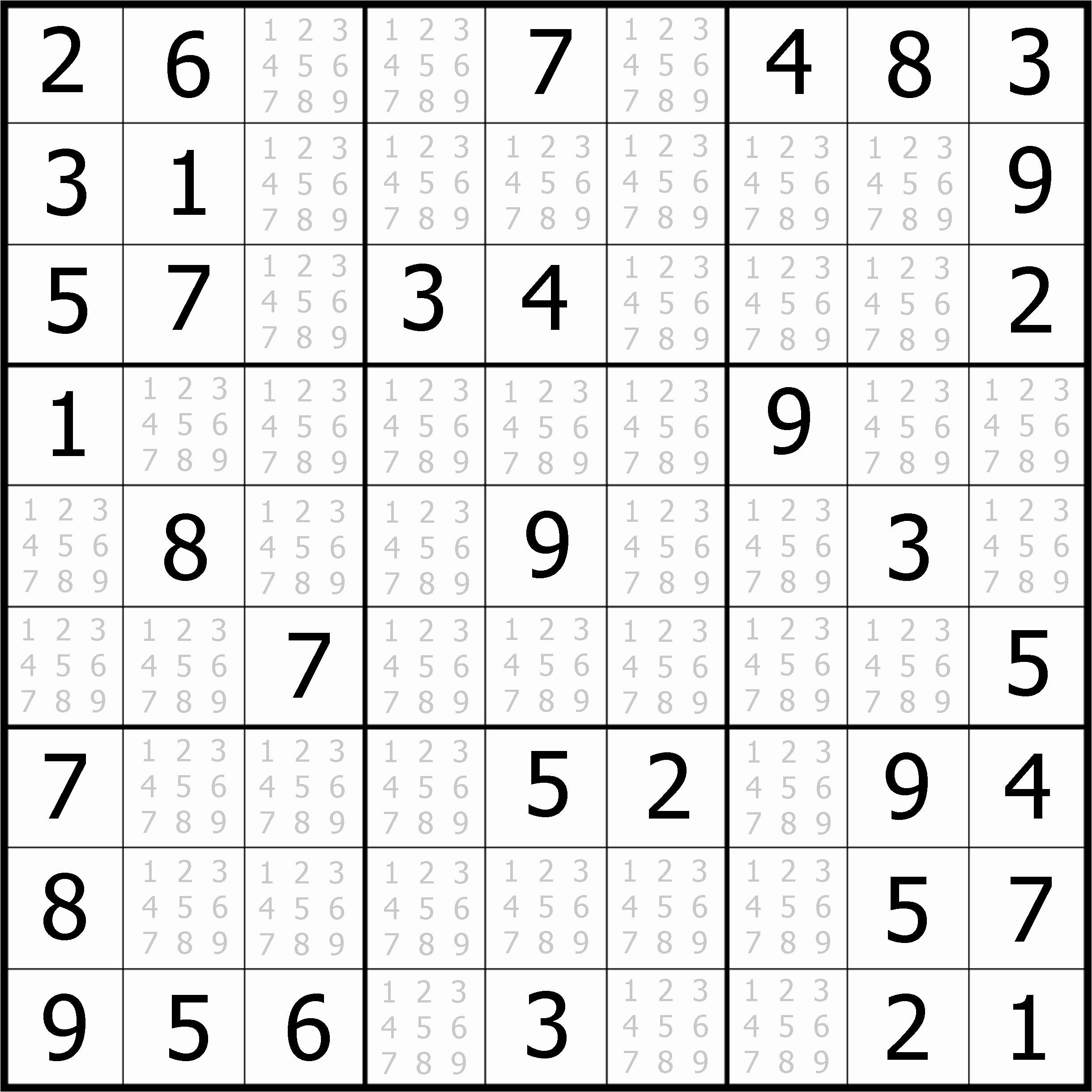 Easy Sudoku Puzzles To Print Free Example Easy Sudoku For You - Printable Sudoku Puzzles For Beginners