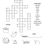 Easy Thanksgiving Crossword Puzzles For Kids | Kiddo Shelter   Easy Crossword Puzzles Printable For Kids