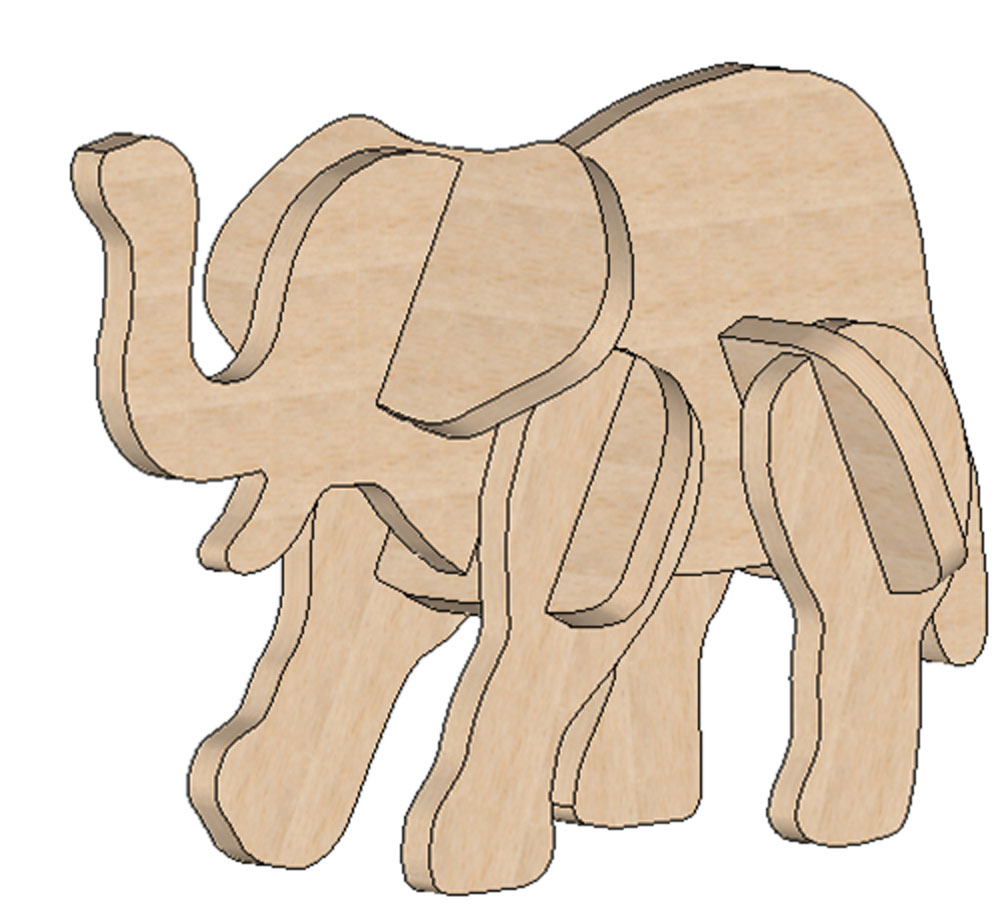 Elephant Mini Puzzle - Printable Elephant Puzzle
