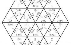 Engaging Math: Tarsia Puzzle   Fractions,decimals And Percents   Printable Tarsia Puzzle