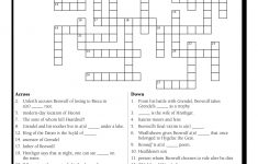 English Teacher's Free Library   Prestwick House   Printable Beowulf Crossword Puzzle