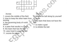 English Worksheets: Football Crossword Puzzle   Football Crossword Puzzle Printable