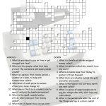 Enjoyable Esl Printable Crossword Puzzle Worksheets With Pictures   Printable Crossword Puzzles Middle School