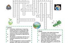 Environment   Crossword Puzzle Worksheet   Free Esl Printable   Grade 1 Crossword Puzzles Printable