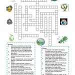 Environment   Crossword Puzzle Worksheet   Free Esl Printable   Printable English Puzzle