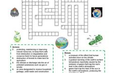 Environment   Crossword Puzzle Worksheet   Free Esl Printable   Recycling Crossword Puzzle Printable