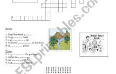 Environment: Crossword+Puzzle   Esl Worksheetyessine   Recycling Crossword Puzzle Printable
