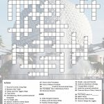 Epcot Crossword Puzzle | Just Because You Have A Fast Passdoesn't   Printable Crossword Puzzles Disney