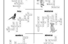 Esl Worksheet Crossword Puzzle Answers   Woo! Jr. Kids Activities   Printable Spanish Crossword Puzzle