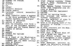 Eugene Sheffer Crossword Puzzle Printable (80+ Images In Collection   Printable Crossword Puzzles By Eugene Sheffer