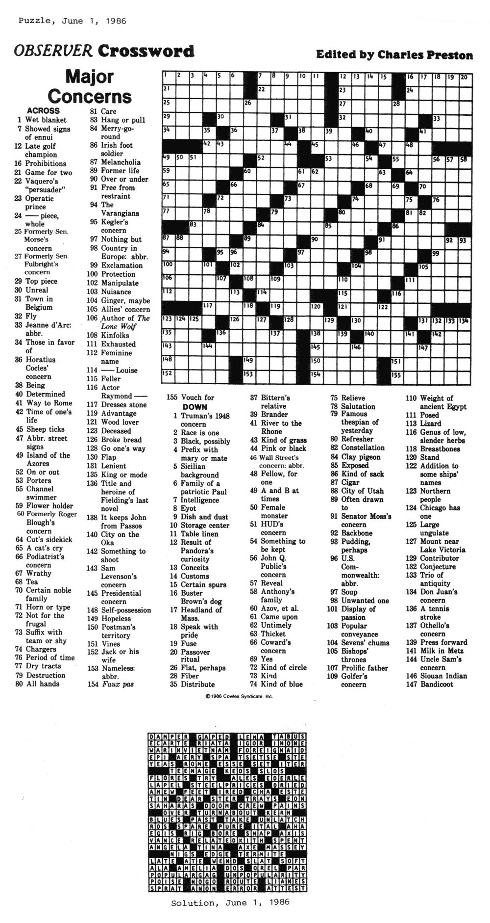 Eugene Sheffer Crossword Puzzle Printable - Printable 360 Degree - Printable Crossword Puzzles By Eugene Sheffer