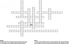 Europe Geography Crossword   Wordmint   Printable Geography Crossword