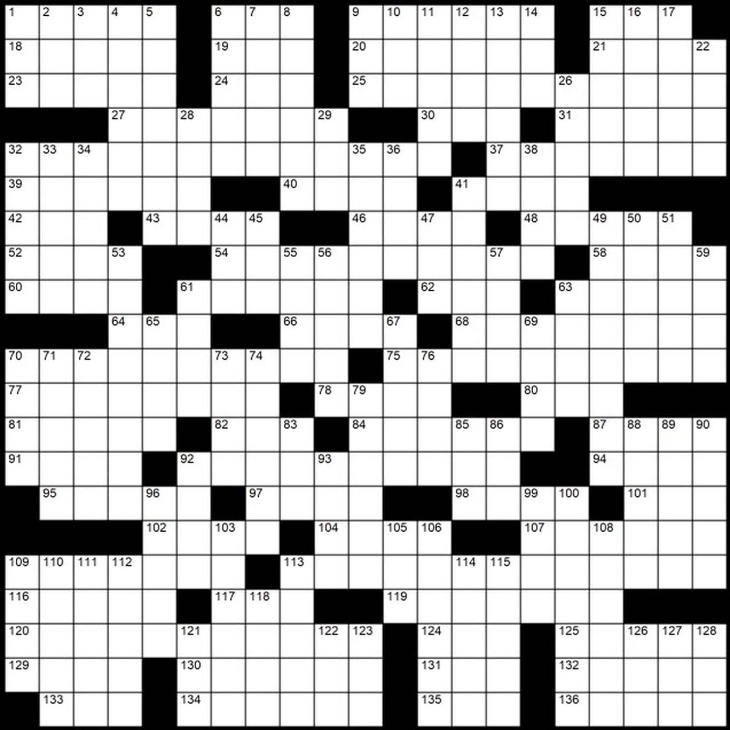 "Evan Birnholz's May 12 Post Magazine Crossword, ""In The Name Of The - Printable Crossword Washington Post"