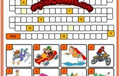 Extreme Sports Esl Printable Word Snake Puzzle Worksheet For Kids   Printable Esl Puzzles
