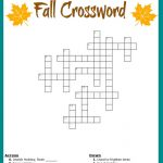 Fall Crossword Puzzle Free Printable Worksheet   Fun Crossword Puzzles Printable