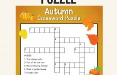 Fall Crossword Puzzle   Printables   Word Puzzles, Crossword, Puzzle   Fall Crossword Puzzle Printable