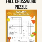 Fall Crossword Puzzle | Printables | Word Puzzles, Crossword, Puzzle   Reading Printable Puzzle