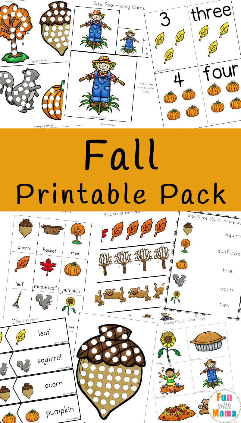 Fall Theme Activities For Kids - Fun With Mama - Printable Puzzles For Toddlers