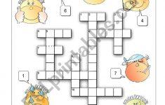Feelings Crossword   Esl Worksheetalenka   Printable Feelings Puzzle