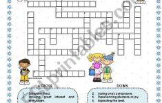 Feelings   Crossword   Esl Worksheetmacomabi   Printable Feelings Puzzle