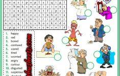 Feelings Emotions Esl Printable Word Search Puzzle Worksheets For   Printable Feelings Puzzle