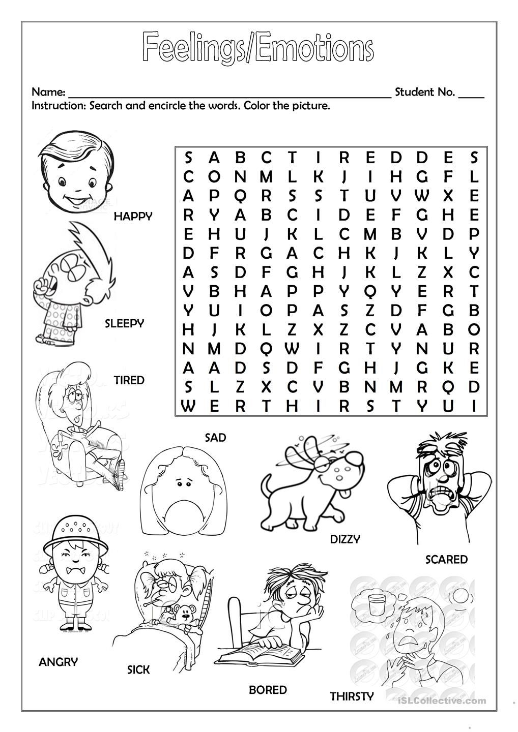 Feelings/emotions | Esl Worksheets Of The Day | English Lessons - Printable Feelings Puzzle