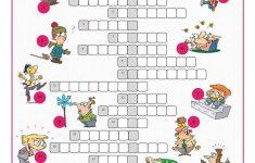 Feelings&emotions Crossword Puzzle Worksheet   Free Esl Printable   Printable Feelings Puzzle