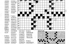 Fill In The Blanks Crossword Puzzle With American Style Grid Of   Printable Crossword Puzzle Grid