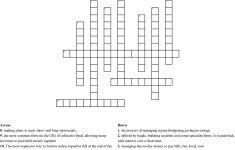 Financial Planning And Money Management Crossword   Wordmint   Printable Crossword Puzzle Money