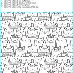Find And Color The Winter Cats   Your Therapy Source   Printable Puzzles Winter