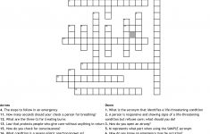 First Aid   Cpr Review Crossword   Wordmint   Printable Crossword Puzzle First Aid