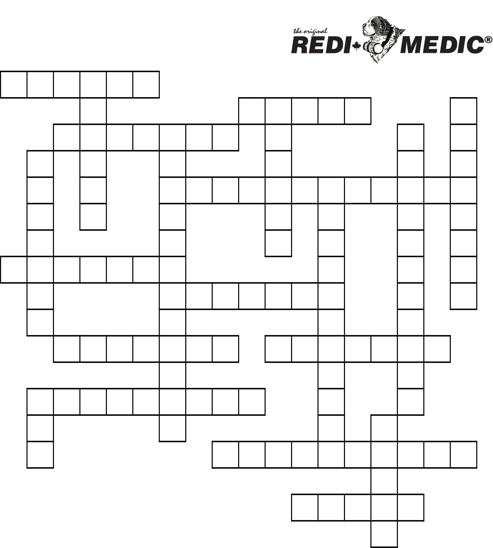 First Aid Crossword Puzzle - Printable Crossword Puzzle First Aid