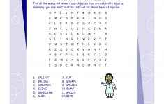 First Aid Word Search Puzzle | Printables | First Aid, Word Search   Printable Crossword Puzzle First Aid