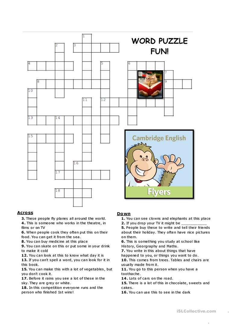 Flyers Vocabulary Puzzles Worksheet - Free Esl Printable Worksheets - Printable Vocabulary Puzzles