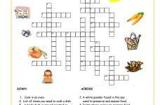 Food And Drink Crossword Worksheet   Free Esl Printable Worksheets   Printable Food Puzzle