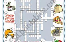 Food Crossword Puzzle   Esl Worksheetlimetree22   Printable Crossword Puzzles About Food